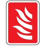 Fire safety sign - Fire Flames 008